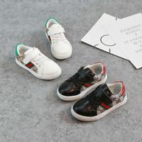 exportaciones de caucho al por mayor-2018 New Children Girl Casual Shoes Fashion Girls Canvas Shoes Student Flat Kids Mocasines Zapatillas de deporte Zapatos de bebé para niños pequeños