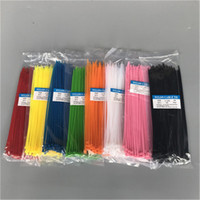 Wholesale self locking ties online - Self locking Nylon strapping Tape nylon cable tie Plastic Zip Tie mm binding wrap straps colorful