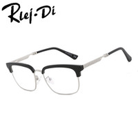 40835ea347e4 NZ009 Anti-Radiation Goggles Plain Glass Spectacles Fashion Women Metal+Plastic  Semi Circle Frame Glasses