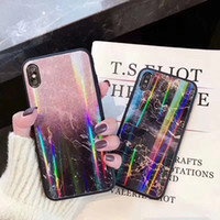 Wholesale clip glasses mirror for sale - Group buy New Tempered Glass Phone Case For Apple iPhone XR XS MAX X s Plus All inclusive Case Colorful Mirror Protective Defender Cover