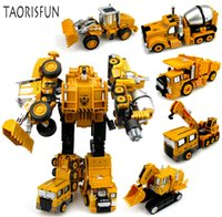 Wholesale toy construction trucks for sale - Group buy 2 in Alloy Engineering Transformation Robot Car Deformation Toy Metal Alloy Construction Vehicle Truck Assembly Robot For Kid SH190910