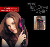 reise-trockner großhandel-Mode Multifunktions-One-Step-Haartrockner und Styler / trockenes Haar nass Heißluftkamm mit doppeltem Verwendungszweck / Haarkamm