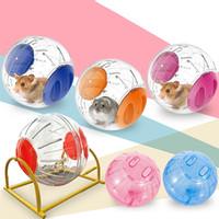 ingrosso giocattolo a sfera-Pet Hamster Toys Criceto Plastica Trasparente Running Jogging Esercizio Ball Divertente Gerbil Guinea Pig Gioca Giocattoli Safe Cage Tools