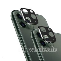 blasenrahmen groihandel-Für iPhone 11 Pro Max-Kamera-Objektiv-Schutz Vollständige Abdeckung Ausgeglichenes Glas-Display-Schutzfolie mit Metallrahmen, Blase Free Anti Scratch