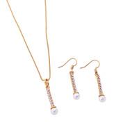 perlen halskette zubehör für frau großhandel-Schöne Lange Perlen Kette Anhänger Hochzeit Halskette Zubehör Frauen Büro Dame Nachahmung Perlenschmuck