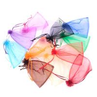 ingrosso grandi borse da regalo organza-Commercio all'ingrosso 100pcs / lot 15x20cm grandi borse con coulisse multi colore solido trasparente sacchetti di imballaggio gioielli organza sacchetto del regalo a buon mercato