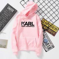 camisas ocasionais dropshipping venda por atacado-Karl Lagerfeld shirt Hoodies Mulheres Vogue camisola Marca Perfume Designer Pullovers Tumblr Jumper Lady dropshipping Casual