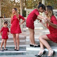 Wholesale mother daughter dress summer clothing resale online - mom and daughter dress kids parent child outfits Mommy and me family matching mother daughter dresses clothes