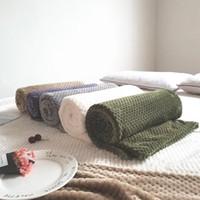 auto betten für reisen großhandel-Urijk Muster Fuzzy Plüsch Leichte Massivdecken für Auto-Reise Winter-Flanell-Vlies-Bett Decke weiche warme Fleece-Decke