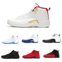 Wholesale retro 12 low for sale - Group buy 12 s Basketball shoes FIBA mens Winterized black WNTR Gym red Flu game GAMMA BLUE Taxi the master men retro Sports Sneakers size7