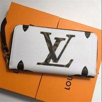kadınlar için moda cüzdanlar toptan satış-Klasik Harf Baskılı Unisex Cüzdan Moda Tasarımı Erkekler Kadınlar Marka Cüzdanlar Trendy Sokak Stili Çift Cüzdan