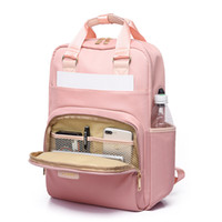 Wholesale stylish bags for girls resale online - Stylish Waterproof Laptop Backpack Women Fashion Backpack for girls Black Backpack Female large Bag inch Pink V191202