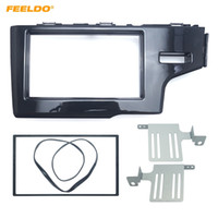 Wholesale dvd for car installation for sale - FEELDO Car Din Stereo Radio Dash Panel Fascia Frame For HONDA Fit Jazz RHD DVD CD Frame Installation Trim Kit