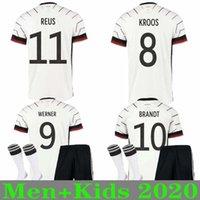 adam gömlek almanya toptan satış-MEN + ÇOCUK Almanya 2020 Ev futbol formaları Deplasman takımı seti Hummels Kroos Draxler REUS MULLER Götze Kimmich futbol forması üniforma