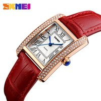 Wholesale ladies retro watch for sale - Group buy SKMEI Women Quartz Watch Leather Strap Retro Fashion Casual Ladies Watches Waterproof Female Wristwatches Relogio Feminino