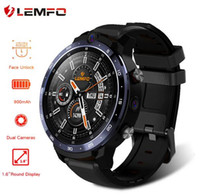 Wholesale 3g wifi android watch phone for sale – best LEMFO LEM12 Smart Watch G Face ID inch Full Screen OS Android G RAM G ROM LTE G Sim GPS WIFI Heart Rate Men Women
