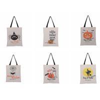 cadılar bayramı kaynakları pumpkins toptan satış-Cadılar Bayramı torbaları Trick or Treat Kabak Tuval Çanta handnbag Şeker Çanta Totes Cadılar Bayramı Dekorasyon Parti ZZA1152 Malzemeleri