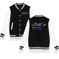 Wholesale jacket baseball kids resale online - Stray Kids Kpop Baseball Jackets Women Men Fashion Long Sleeve Jacket New Arrival Hot Sale Casual Streetwear Clothes