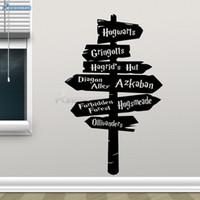 vinil çıkartma işaretleri toptan satış-Harry Potter Duvar Çıkartması Hogwarts Yol Burcu Vinil Sticker Ev Film Dekor Çıkarılabilir DIY Duvar sticker Poster Yapıştırıcı Çıkartmaları H-03 D19011702