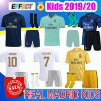 Wholesale Men kids soccer jerseys real Madrid HAZARD JOVIC ISCO camiseta de futbol VINICIUS RODRYGO MENDY BALE ZIDANE football shirt