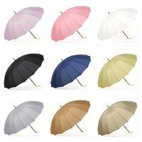 förderung golf großhandel-Holzgriff Regenschirme Anpassbare Förderung Solide Golf Starker Winddicht Unisex Regenschirm Maßgeschneiderte Schutz UV Regenschirm DH0997