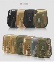 ingrosso borse militari esterne-Tattico Militare Hip Tasca Portafoglio Uomo Sport All'aria Aperta Casuale Cintura Cassa Del Telefono Custodia Army Camo Camouflage Bag MMA1954