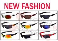 ingrosso gli occhiali da sole degli uomini-occhiali da sole di vetro della bicicletta degli uomini di modo di marca nuovi di estate occhiali sportivi che guidano gli occhiali da sole che ciclano 9 colori di buona qualità trasporto libero