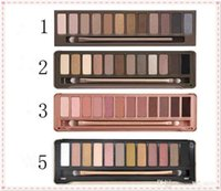 Wholesale naked makeup 12 resale online - Naked eye shadow pallet smoky makeup NO Palette color naked pallet Matte Natual eyeshadow Cosmetics dhl