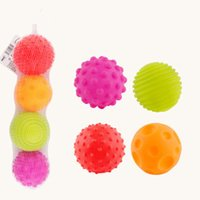 Textured Multi Ball Set Baby Gifts Super Soft Develop Baby's Tactile Senses Toy Educational Early Rattle Activity Toys