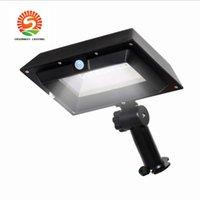 ingrosso proiettore del sensore di luce-Luce solare spot nera bianca 6W P67 (5Pack) Sensore IPIR impermeabile IP65 PIR luci a led proiettore esterno Giardino esterno Strada lig