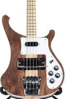 клен электрогитара корпус оптовых-Редкие 4003W Натурального ореха Bass 4 струны бас ОРЕХ тело марочного RIC 4003 электрического бас гитара шея Thru Body One PC шея Body New Hot