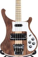 hälse ahorn bass großhandel-Rare 4003W Natürliche Walnuss Bass 4 strings Bass NUSSBAUM Körper Jahrgang ric 4003 E-Bass-Gitarren-Ansatz Thru Body One PC Ausschnitt Körper New Hot