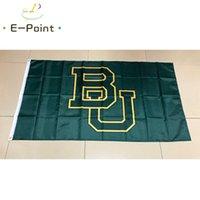 fliegender bär großhandel-Flagge von NCAA Baylor Bears und Lady Bears Neu Polyester Flagge 3ft * 5 Fuß (150cm * 90cm) Flag Banner Dekoration Fliegen Hausgarten im Freien Geschenke