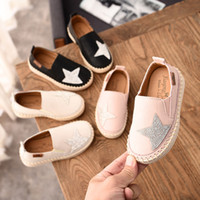 Wholesale cute pink shoes resale online - Designer Shoes for Girl New Fashion Print Fisherman Shoes Casual Five pointed Star Pattern Flat Cute Children s Shoe