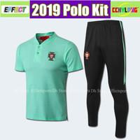 ingrosso polo uniforme-2018 2019 Maglia Nazionale Polo Shirt Kit PEPE 7 RONALDO J.MOUTINHO EDER 10 J.MARIO BERNARDO NANI 20 QUARESMA 2018 Divisa da calcio