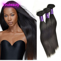 Wholesale indian human hair weft silky resale online - Indian Mink A Natural Color inch Silky Straight Human Hair Bundles Double Hair Wefts Products Indian Straight