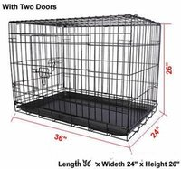 Wholesale pet playpens for sale - 36 Doors Wire Folding Pet Crate Dog Cat Cage Suitcase Kennel Playpen With Tray