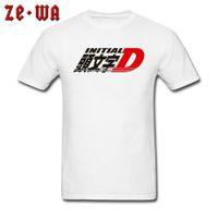 carro estilo japão venda por atacado-Inicial D AE86 Camisetas Anime Engraçado ACDC Car Styling Tshirts Para Homens de Alta Qualidade Moda Casual Camisola Branca Japão JDM