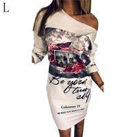 robes longues à manches longues en forme de genou achat en gros de-robe à la mode d'impression épaules lâches épaules à manches longues robe courte couleur blanche longueur genou court