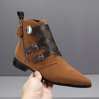 Wholesale women fashion leather belts flowers resale online - A4 Women winter Handsome Martin boots New Arrival original Sexy Low heel Fashion Classic Luxury Sexy British belt buckle Ladies Boot