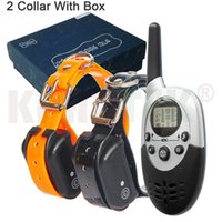 Wholesale dog collar shock resale online - Waterproof Pet Dog Trainer Collar Remote Rechargeable Dog Bark Control Training Collar Device With Vibration Electric Shock Beep
