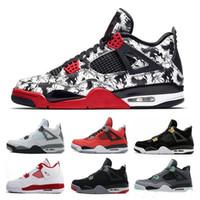 023ad92b 2019 boa qualidade 4s retro cimento branco Bred Fire red Retro Homens  Mulheres 4 Sapatos casuais 45 tênis 11 11s TAMANHO 36-47