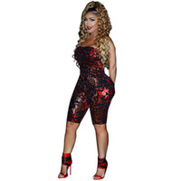 bd6bb9d1fcf Strapless Rompers Womens Body Femme Jumpsuit Backless Sequin Sexy Summer Jumpsuit  Women Bodysuits Playsuit Wine Red Clubwear
