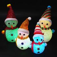 Wholesale night lights change colors for sale - Group buy 7 Colors Changing EVA Crystal Ball Mushroom Bear Snowman LED Night Light Lamp Colorful Desk Light For Bedroom Christmas Decor
