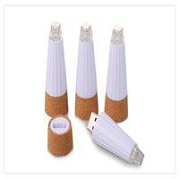 ingrosso luce di bottiglia ricaricabile del usb-Lampada da bottiglia ufficiale a forma di tappo di sughero ricaricabile a LED Luci notturne Spark LED Lampada per bottiglia di vino per feste USB ricaricabile