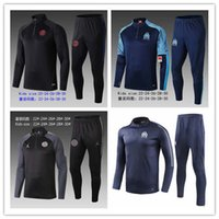 Wholesale new tracksuit children for sale - Group buy New Olympic Marseille KIDS Tracksuit Soccer Jogging Football Tops Coat Pants Sports Training child OM Football Track Suit