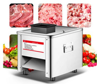 Wholesale automatic slicer for sale - Group buy 850W multi function stainless steel Meat cutting machine Commercial Slicer Desktop Automatic electric dicing machine