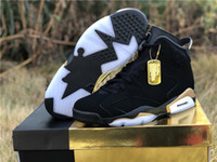 Wholesale shoe plush resale online - With Box New DMP black gold VI s men basketball shoes outdoor trainers top quality size