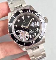 vieilles montres achat en gros de-Ancien style Vintage Mens Automatic ETA 3135 Montre Hommes Noir En Acier Allié Lunette Date Superlative Montres 16610 Rétro Super Top V2 Montres