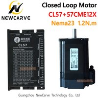 leadshine cnc venda por atacado-Leadshine Nema23 1.2Nm Closed Loop Kit Servo híbrido motorista CL57and 57CME12X Stepper Motor Drive 57 milímetros Para CNC Router NERCARVE